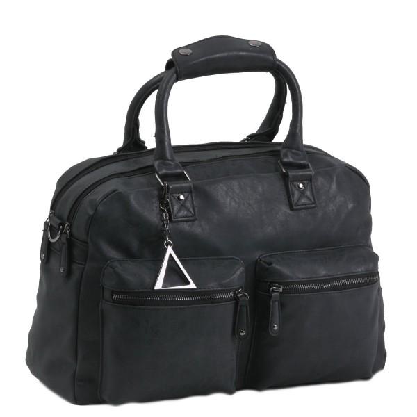 Handtasche TANGO mit extra Laptopfach schwarz