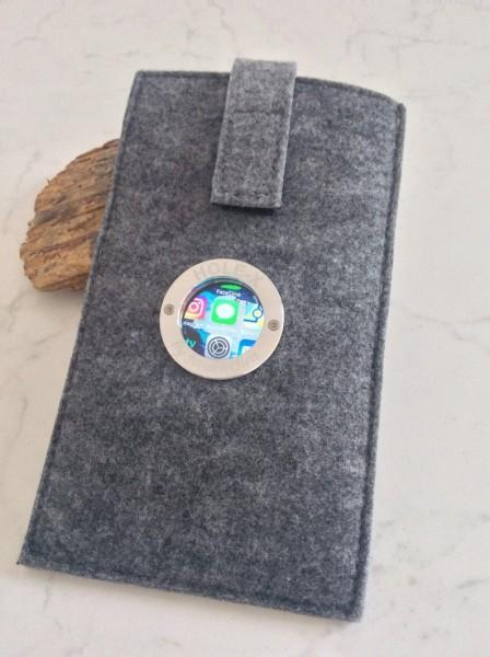 Smartphone Hülle HOLE-X HOTEL grau