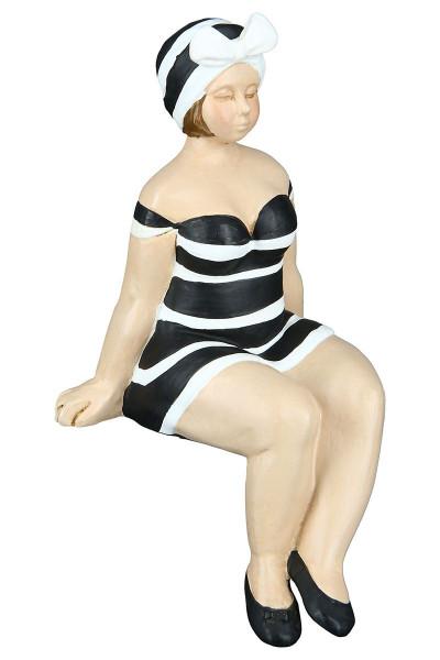 """Strandgut Figur """"Becky"""" sitzend schwarz"""
