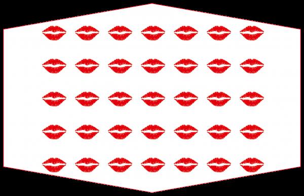GESICHTSMASKE KISS