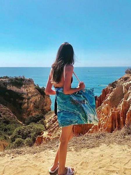 MARBLE DRAGONFLY Beachbag