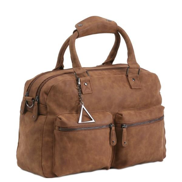 Handtasche TANGO mit extra Laptop-Fach braun
