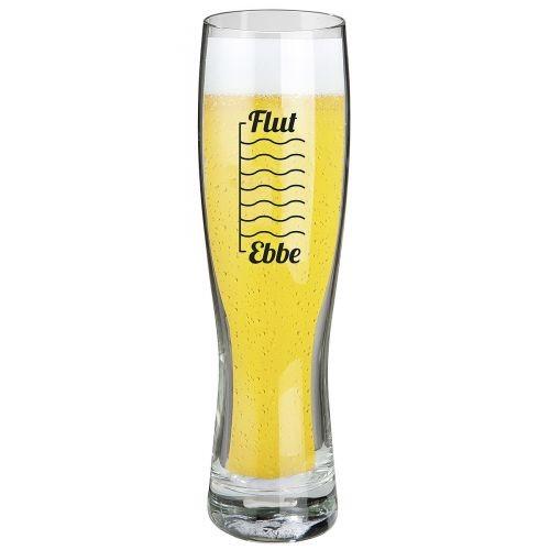 """Weizenbierglas """"Ebbe und Flut"""""""