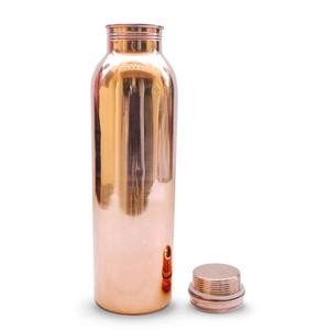 Trinkflasche aus reinem Kupfer 1000ml poliert