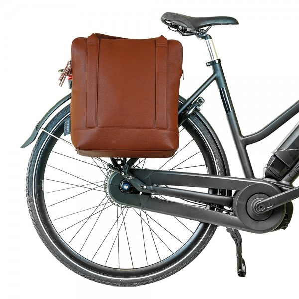 Urban Shopper- Bicycle Bag - Cognac