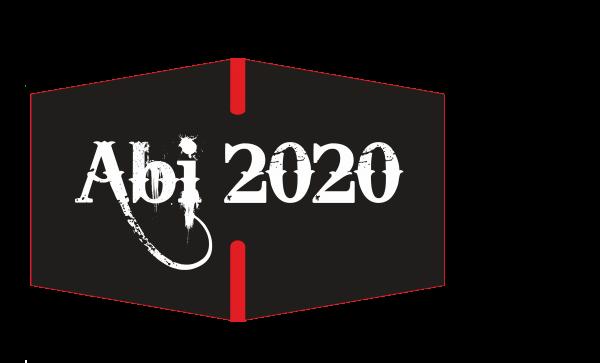 """GESICHTSMASKE """"ABI 2020"""" schwarz"""