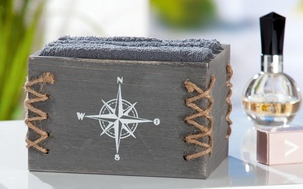 """""""WINDROSE"""" BOX mit Gästehandtücher"""