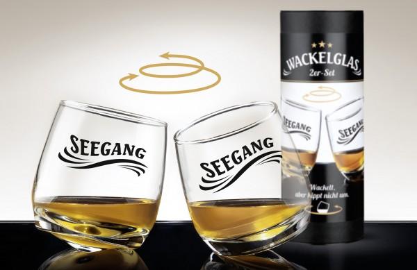 """Wackelglas """"SEEGANG"""" 2er Set in Geschenkbox"""