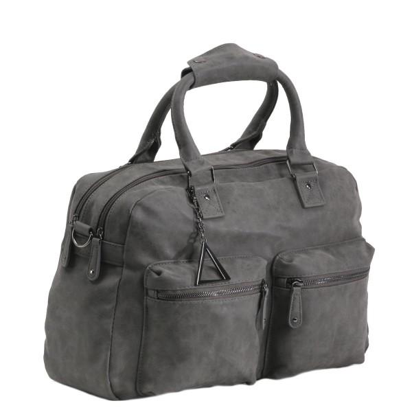 Handtasche TANGO mit extra Laptop-Fach grau
